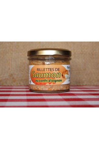 Rillettes de saumon au confit d'oignon