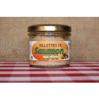 Rillettes de saumon aux olives