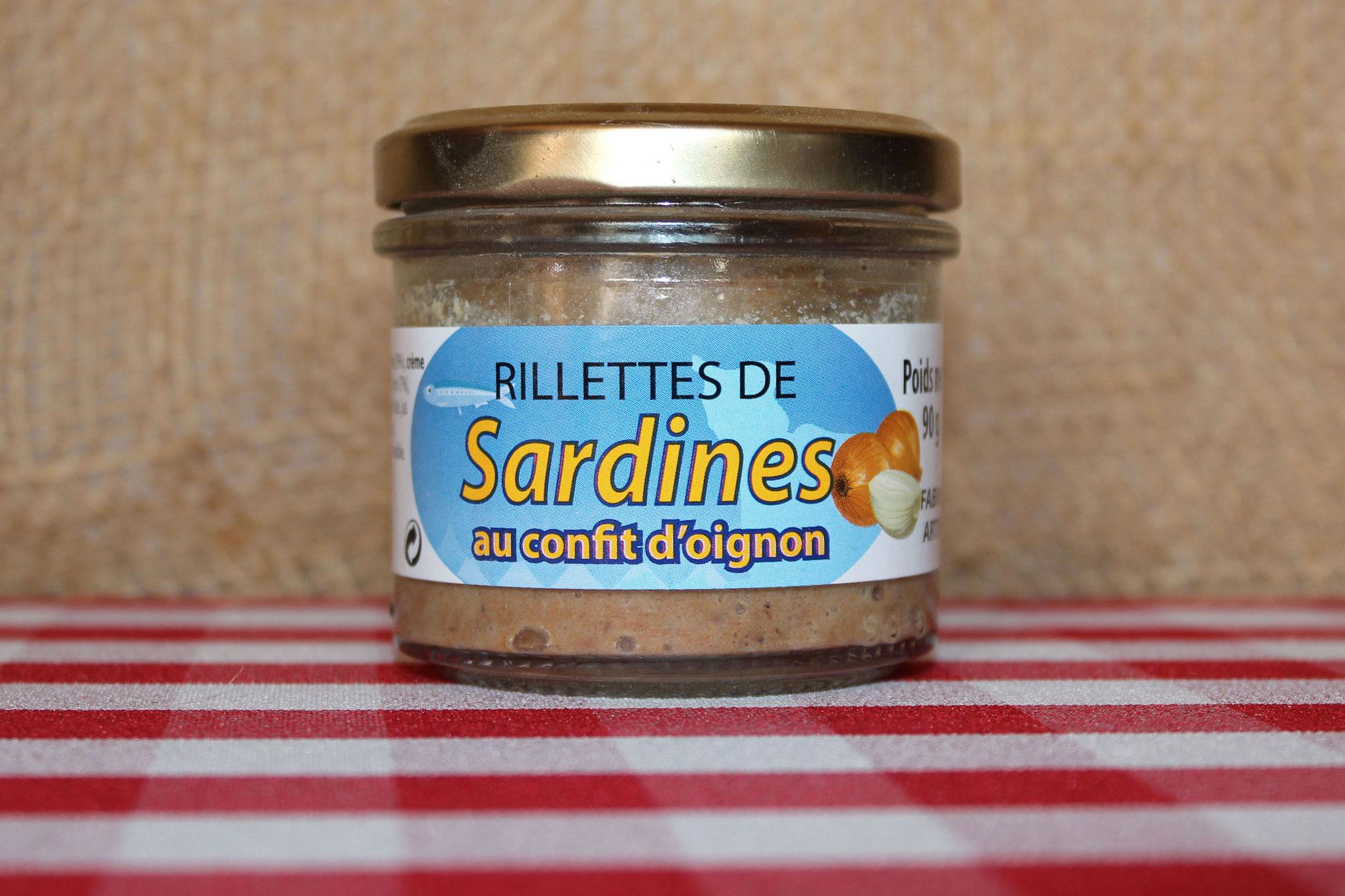 Rillettes de sardine au confit d 39 oignon conserve maison saint lo - Conserve de sardines maison ...