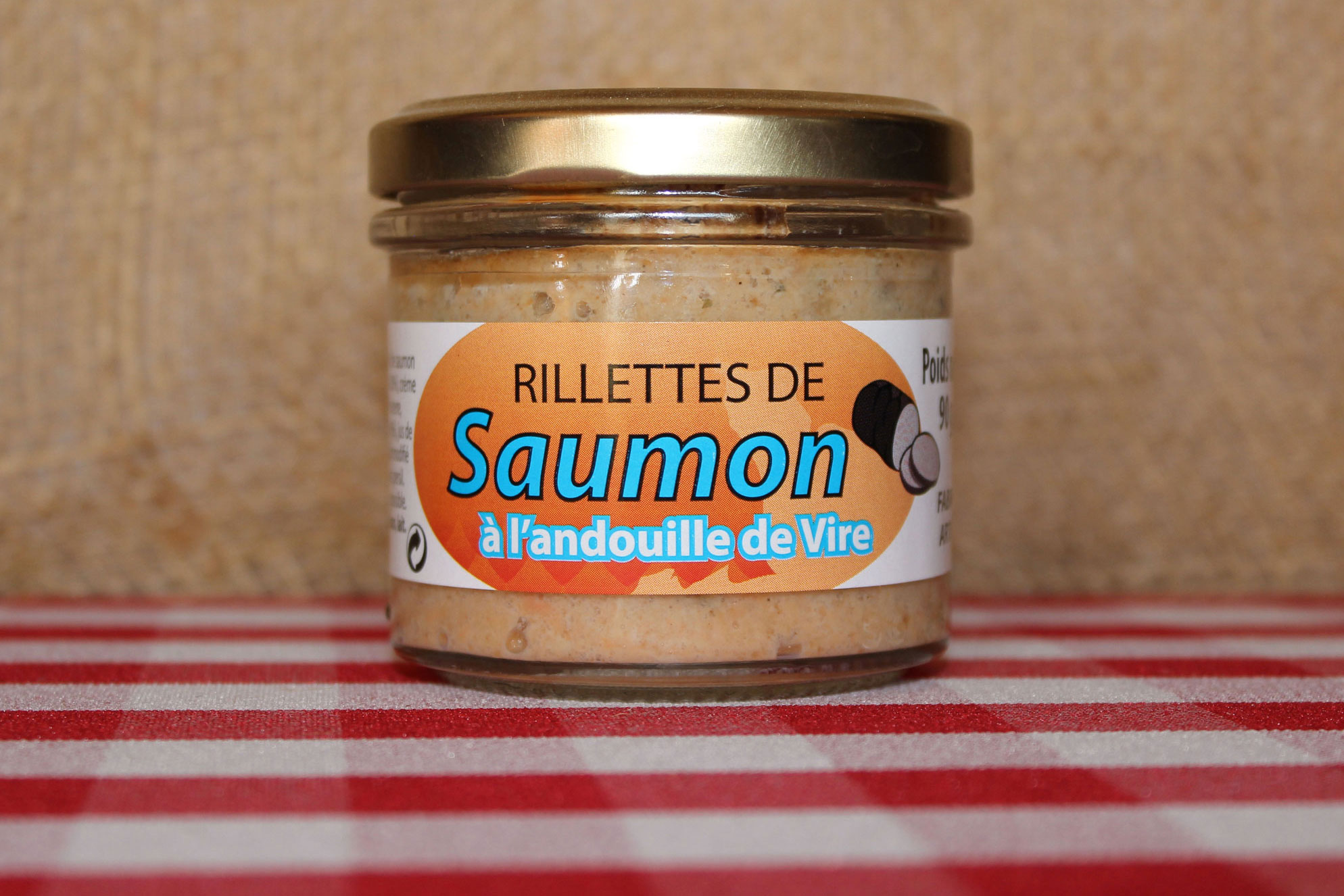 rillettes de saumon l 39 andouille de vire conserve maison saint lo. Black Bedroom Furniture Sets. Home Design Ideas