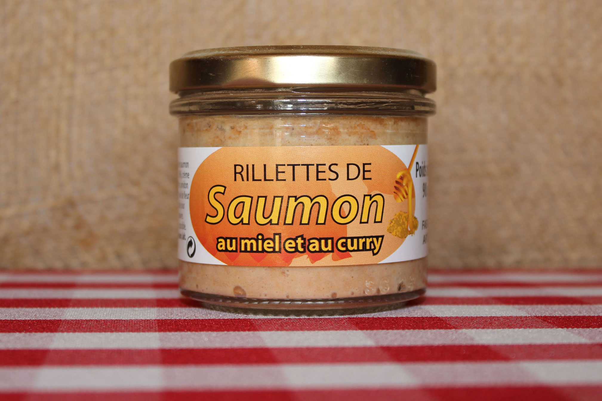 rillettes de saumon au miel et curry conserve maison saint lo. Black Bedroom Furniture Sets. Home Design Ideas