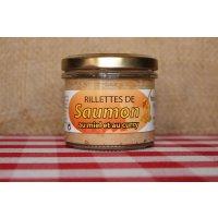 Rillettes de saumon au miel et curry